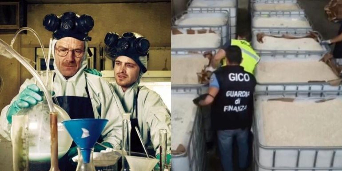 Como en Breaking Bad, incautan anfetaminas en Italia