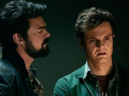 Karl Urban y Jack Quaid en The Boys