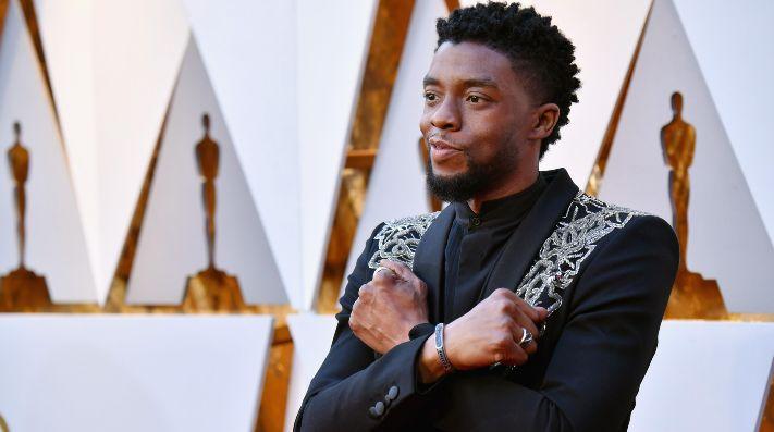 Chadwick Boseman en la gala de los Oscars