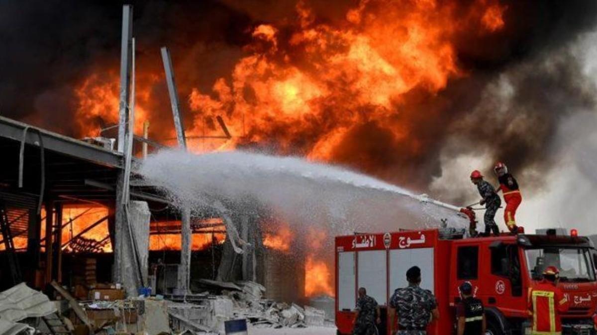 Incendio en Beirut a un mes de la explosión en el puerto: video y cuál fue  la causa | Spoiler