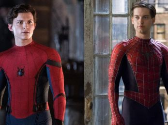 Tom Holland y Tobey Maguire.
