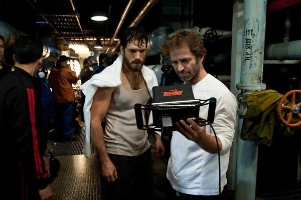 Henry Cavill y Zack Snyder en 'Man of Steel'
